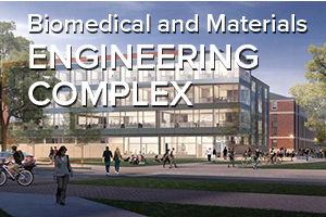 rendition of Ohio State's new Biomedical and Materials Engineering Complex
