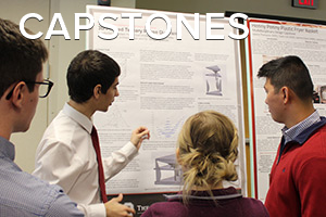 image of materials science and engineering student at ohio state presenting capstone