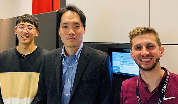 Photo of Dr. Jinwoo Hwang and CEMAS team NSF CAREER Award winner