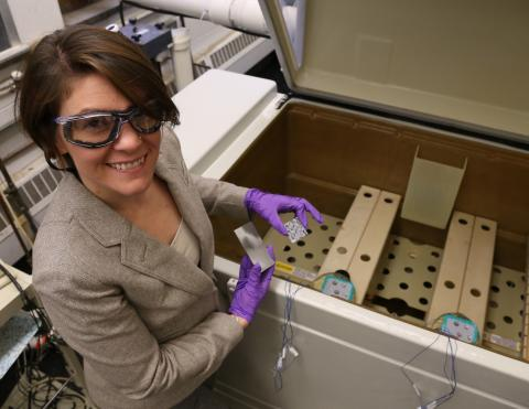 Jenifer Locke in the laboratory.